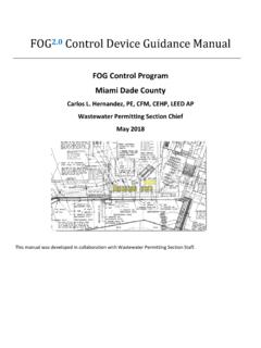 FOG2.0 Control Device Guidance Manual - Miami-Dade