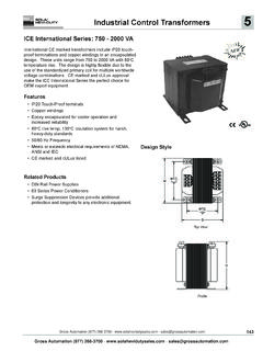 Industrial Control Transformers - Sola/Hevi-Duty Sales