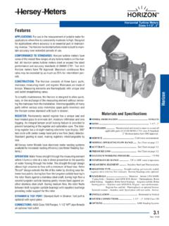 Materials and Specifications - Controls Warehouse
