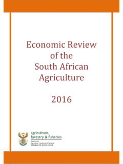 Economic Review of the South African Agriculture