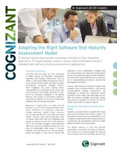 Adopting the Right Software Test Maturity …