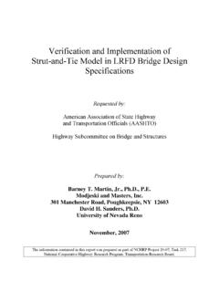 Verification and Implementation of Strut-and-Tie Model in ...