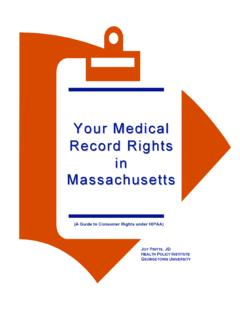 Your Medical Record Rights in Massachusetts - namimass.org