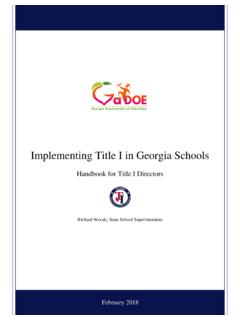 Implementing Title I in Georgia Schools - gadoe.org