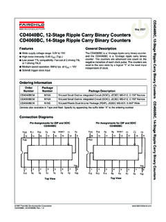 CD4040BC, 12-Stage Ripple Carry Binary Counters …