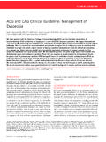 ACG and CAG Clinical Guideline: Management of Dyspepsia