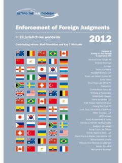Enforcement of Foreign Judgments in 28 jurisdictions ...