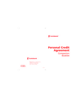 Personal Credit Agreement - Scotiabank