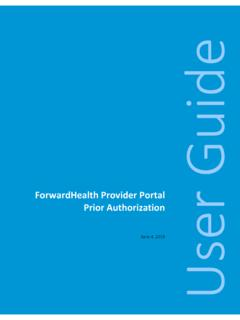 ForwardHealth Provider Portal Prior Authorization User …