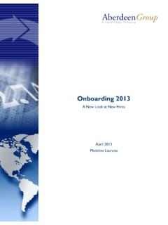 Onboarding 2013: A New Look at New Hires