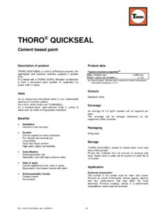 PE THORO QUICKSEAL