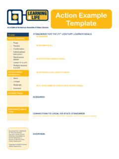 Action Example Template - American Library Association