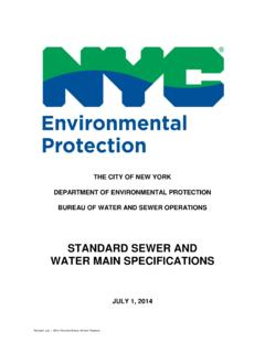 STANDARD SEWER AND WATER MAIN SPECIFICATIONS