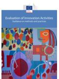 Evaluation of Innovation Activities - European …