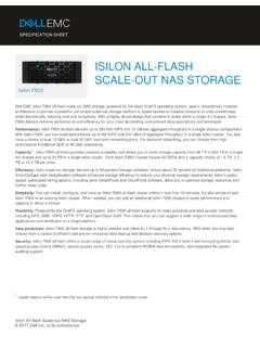 Dell EMC Isilon All-Flash Scale-Out NAS Storage