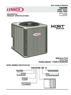 13ACXN 1.5-5 TON AIR CONDITIONERS AIR CONDITIONERS …