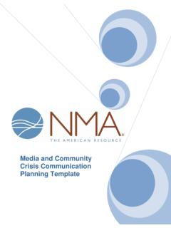 Media and Community Crisis Communication Planning …