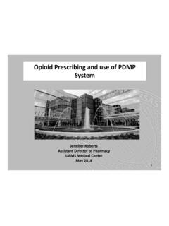 Opioid Prescribing and use of PDMP System