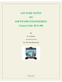 LECTURE NOTES ON SOFTWARE ENGINEERING …