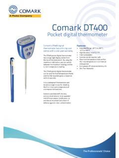 20526-1 DT400 thermometer-datasheet - Comark Instruments