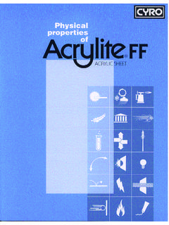 Acrylite FF Physical Properties Brochure