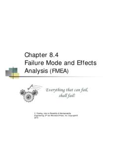 Chapter 8.4 Failure Mode and Effects Analysis (FMEA)