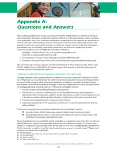 Appendix A: Questions and Answers