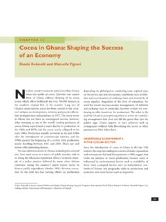 CHAPTER 12 Cocoa in Ghana:Shaping the Success of an …