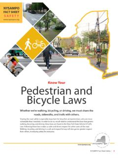 Know Your Pedestrian and Bicycle Laws - NYSAMPO