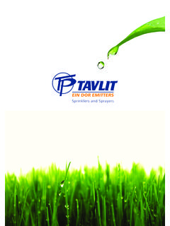 Sprinklers and Sprayers - Tavlit