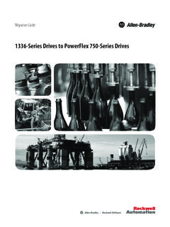 1336-Series Drives to PowerFlex 750-Series Drives ...