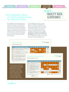 Key OB Quality Metrics are Tracked and Reported to Our ...