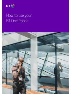 How to use your BT One Phone
