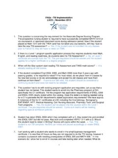 FAQs TSI Implementation LSCS November 2013