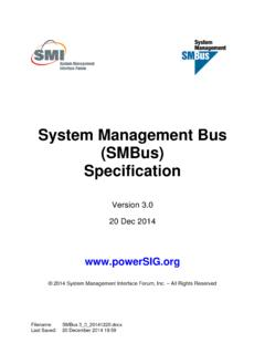 System Management Bus(SMBus)Specification