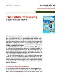 The Future of Nursing - nationalacademies.org