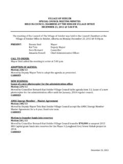 VILLAGE OF HEISLER SPECIAL COUNCIL MEETING …