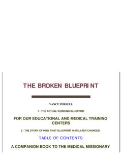 THE BROKEN BLUEPRINT - UPA-VISION