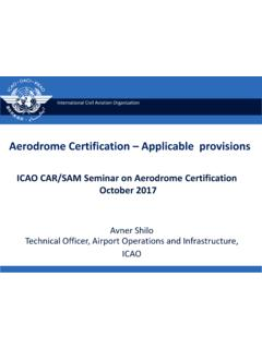 Aerodrome Certification Applicable provisions