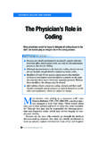 The Physician's Role in Coding - doctorsdigest.net