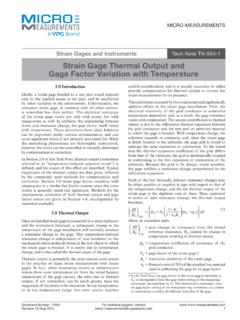 Strain Gage Thermal Output and Gage Factor Variation with ...