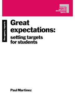 Great expectations: setting targets for students