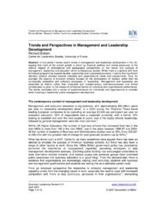 Trends and Perspectives in Management and …