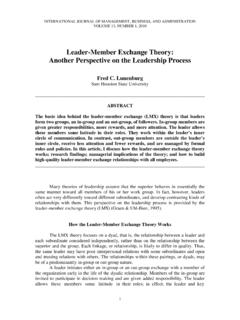 Leader-Member Exchange Theory: Another Perspective on …
