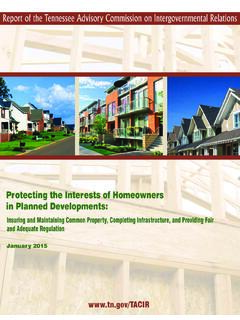 Protecting the Interests of Homeowners in Planned …