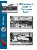 Homeowner's Guide to Earthquake Safety - Disclosure Source
