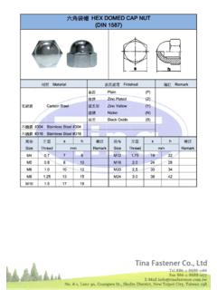 六角袋帽帽帽 HEX DOMED CAP NUT ((((DIN DIN DIN 1587 …