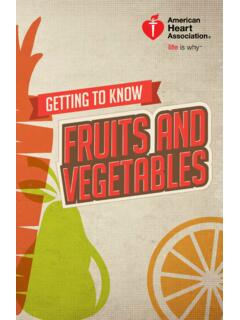Fruits and vegetables are a key part of an