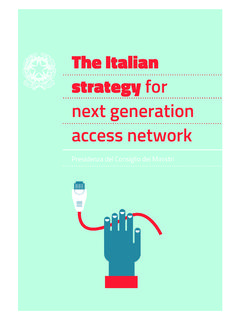 The Italian strategy for next generation access network