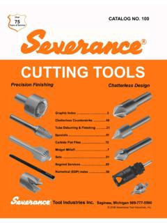 Precision Finishing Chatterless Design - Severance …